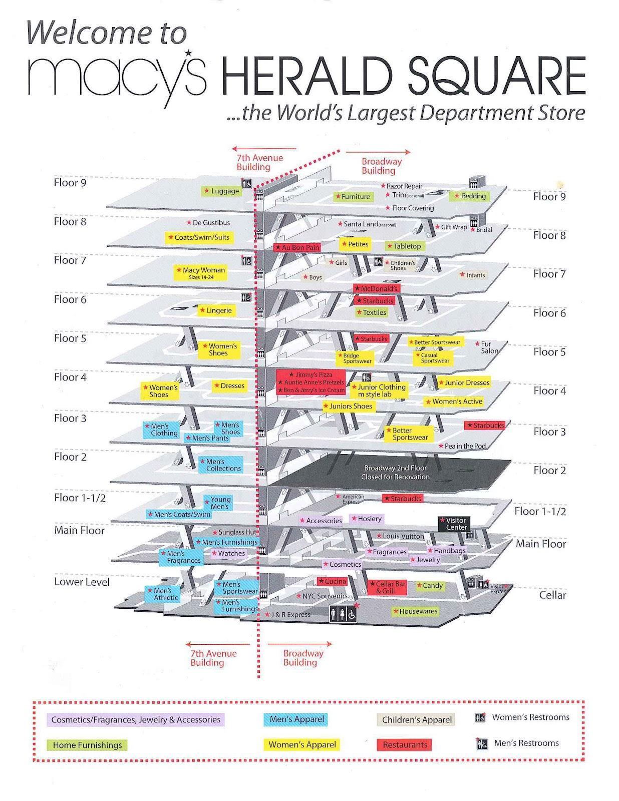 Macy S New York Map Macy S New York City Map New York Usa