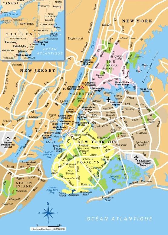 Map of New York City - New York City New York map (New York - USA)