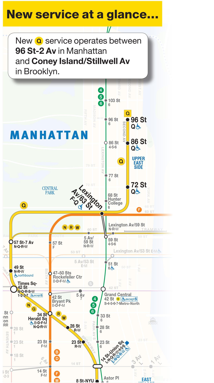 MTA q train map Map of q train New York USA