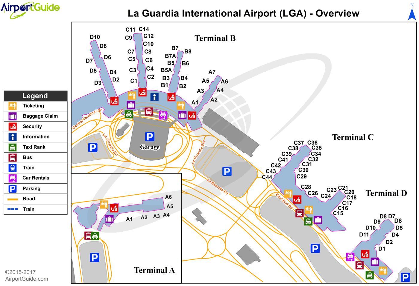 New York laguardia airport map - NYC laguardia airport map (New York ...