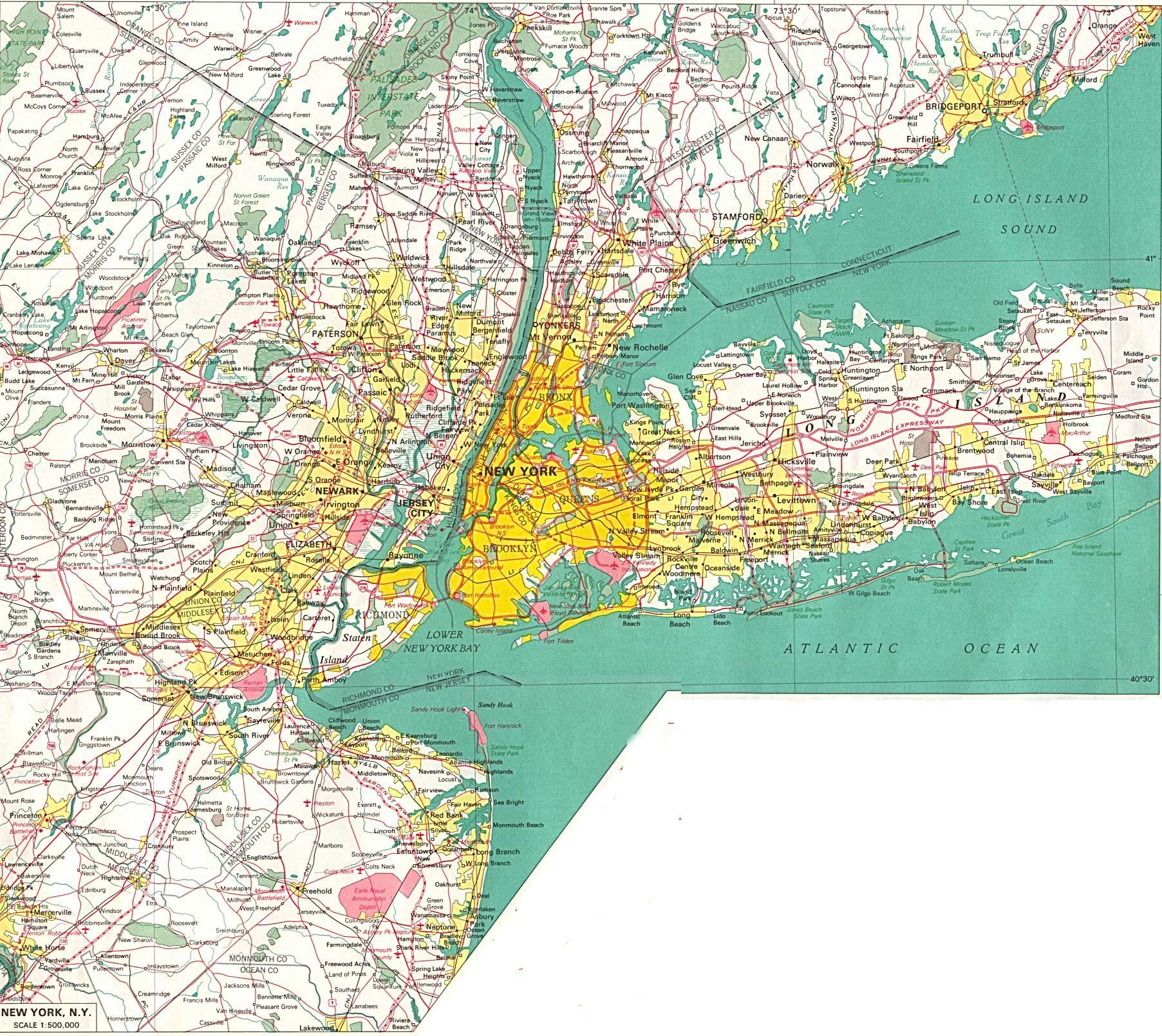 New York on map New York location on map New York USA