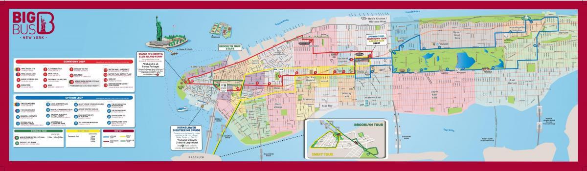Big Bus New York Map Big Bus Nyc Map New York Usa