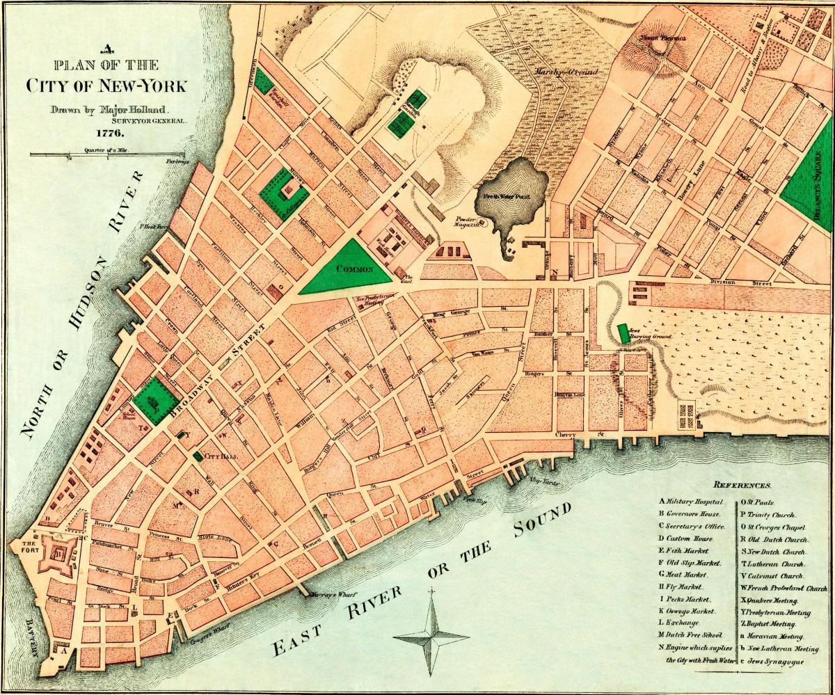 Map Of New York 1776.Map Of New York City 1776 New York 1776 Map New York Usa