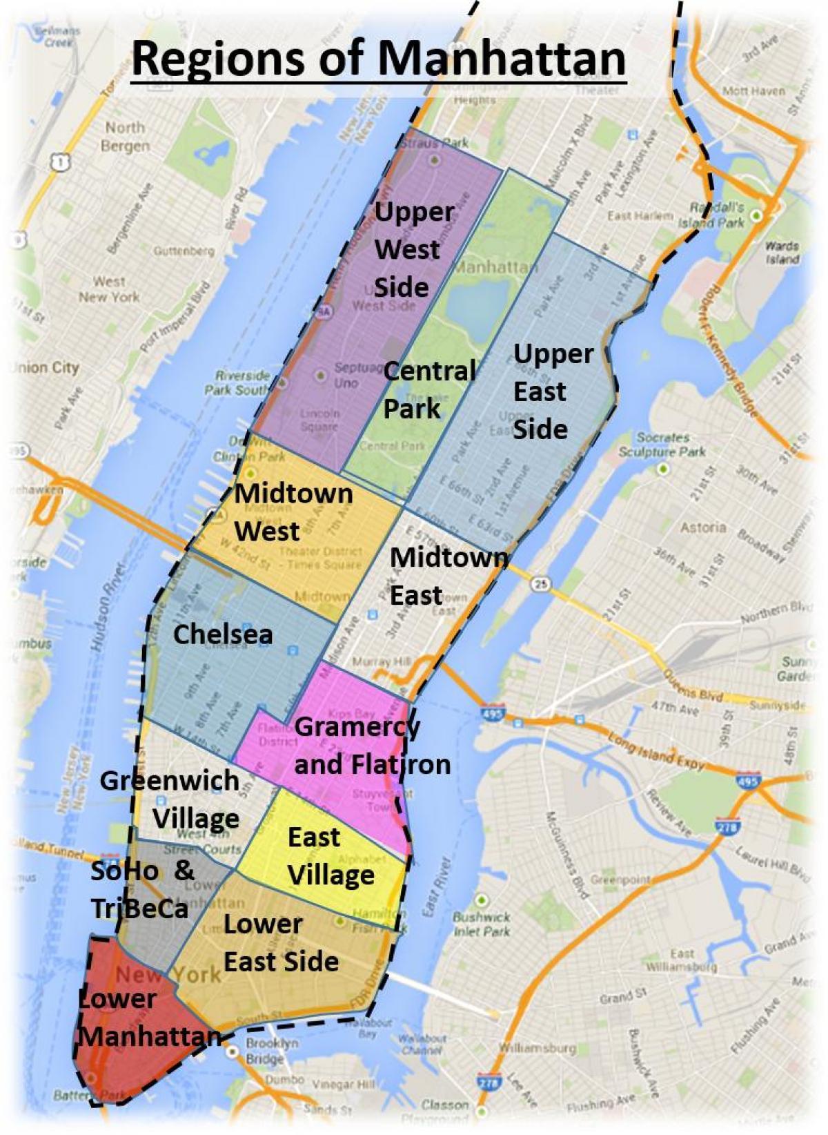 nyc regions map