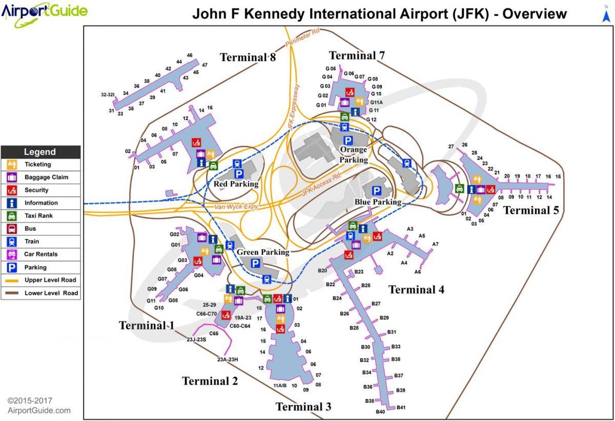New York jfk airport map New York jfk map New York USA