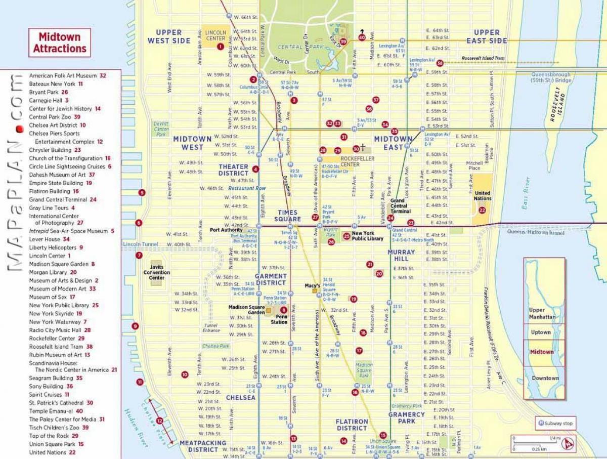 NYC tourist map printable - Tourist map of New York printable (New ...